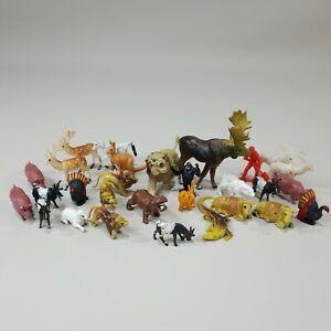 Vintage Plastic Animal Figures Lot Of Animals Bear Lions Moose Kangaroo Pigs