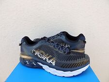HOKA ONE ONE ARAHI MIDNIGHT NAVY/ GOLD RUNNING SHOES, MEN US 10/ EUR 44 ~NEW