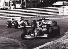 1994 Formula 1 Rothmans Williams Renault Coulthard Hill Belgian Gp Press Photo