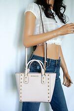NWT Michael Kors Sandrine Stud Small Crossbody Saffiano Leather Bag Pink Gold