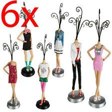 6 x Présentoir à Bijoux Support Mannequin Modèle Collier Anneaux Bracelet Rack chambre Affichage