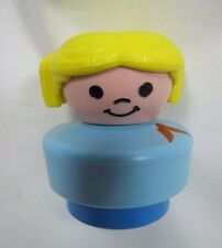 Vintage Fisher Price Little People BLONDE HAIRED COWGIRL COW GIRL FARM WESTERN