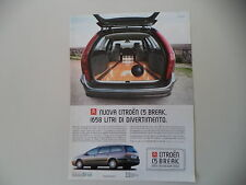 advertising Pubblicità 2001 CITROEN C5 BREAK