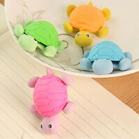 4Pcs Creative Cartoon Funny Mini Tortoise Rubber Pencil Eraser School
