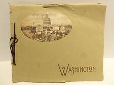 Antique 1914 Washington Nations Beautiful Capital B.S. Reynolds Post Card BOOK