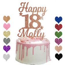 Personalised 18th Happy Birthday Cake Topper Any Age 13 16 18 21 30 40