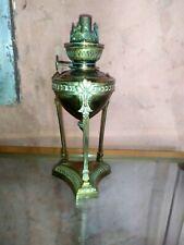 Petite lampe à pétrole athénienne en bronze C.1900