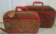 Vintage Suitcase Set (2) MCM Soft Paisley Japan