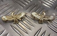 Genuine Military Issue Air Force Type Wingspan Eagle Matching Metal Badges NEW