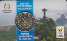 "BELGIUM 2 euro 2016 ""Olympics in Rio"" IN COINCARD UNCIRCULATED BIMETALLIC"