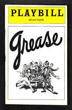"""Peter Gallagher """"GREASE"""" Scott Ellis / Jim Jacobs & Warren Casey 1978 Playbill"""