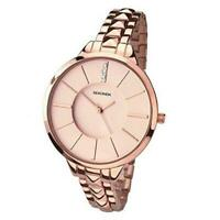 SEKONDA EDITIONS Ladies Rose Gold Plated Slimline Rose Gold Plated Br