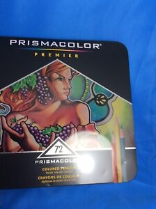 Prismacolor Premier Colored Pencils Soft Core Colors Set 72 Pencil NIB