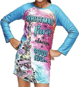 Justice Girls Holiday Christmas in Paris is Always a Good Idea Nightgown Pajama