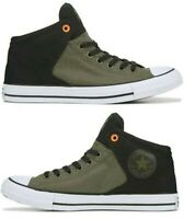 New CONVERSE Chuck Taylor Street hi top athletic Sneakers Mens black all sizes