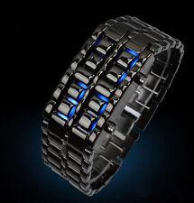 Women's Highly Polished Titanium Black LED Bracelet Watch