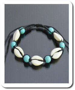 Cowrie Shell Bracelet Real Kaurimuschel Howith Turquoise Boho Surfer Noble