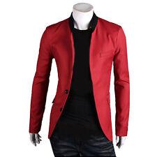 Fashion Luxury Men's Slim Fit Two Button Business Casual Blazer Jacket Suit Coat