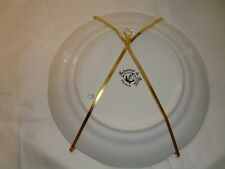Lot of 5 plate, picture frame holders/stands, metal, gold color