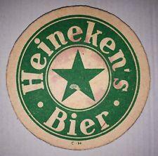 ANCIEN SOUS BOCK - HEINEKEN'S BIER - C-H - EPAIS - 2 FACES VERT/ROUGE