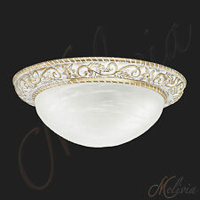 Deckenleuchte Glas Chrom Messing Weiss Deckenlampe Gold Pendelleuchte Hängelampe