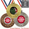 AMERICAN FOOTBALL METAL MEDALS 50mm, PACK OF 10, RIBBONS, INSERTS or OWN LOGO