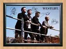 Westlife Mark Feehily Shane Filan Kian Signed Autographed A4 Print Poster Photo