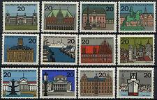 Alemania Occidental estampillada sin montar o nunca montada sello Deutsche Bundespost 1964 Federal tierras SG 1330-1340 A