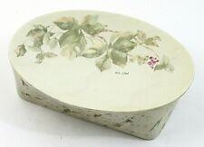 Vintage Croscill Ivy Cheri Blum Green Plum Floral Oval Soap Dish EUC