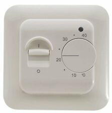 Electric Heater Room Thermostat Flush-Mounted In-Wall Internal+External Probe