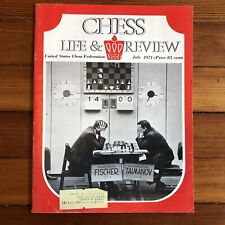 1971 dsply CHESS REVIEW Magazine BOBBY FISCHER defeats Russian MARK TAIMANOV 6-0