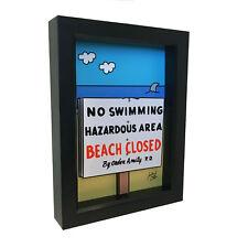 Jaws Movie Poster 3D Art Amity Island Horror Sign Print Dark Decor Beach Shark