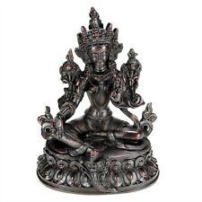 "GREEN TARA STATUE 6.2"" Buddhist Goddess Tibetan Figure HIGH QUALITY Buddha Resin"