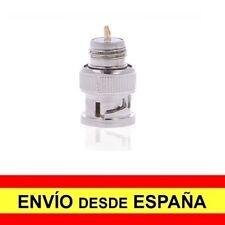 Adaptador Conector CCTV Macho BNC COAXIAL TIPO Rosca para soldar Plateado a4167