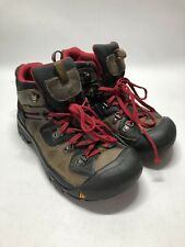 Keen Brown Leather Waterproof Mid Ankle Hiking Boots - Big Kids Size 5