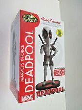 SDCC exclusive X Force Deadpool bobble (broken) Marvel Head Knockers (2016) NECA