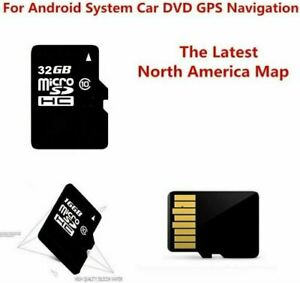 32GB Micro SD CARD MAP USA Canada Mexico -Android System Car Auto GPS DVD Radio