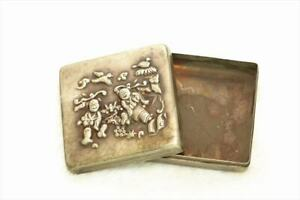 Old Fine Chinese Brass ink box