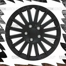 """4 x Premium Matte Black Indy Wheel Cover ABS Hubcap Rim Covers For 14"""" Wheel"""