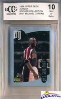 1998 Upper Deck #111 Michael Jordan Sticker BECKETT 10 MINT Bulls HOF