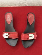ferragamo Red Leather sandals 7