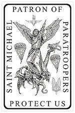 Patron Saint of Paratroopers SAS, Parachute regiment, Airborne forces Sticker