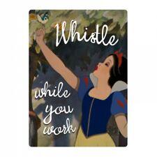 Genuine Disney Snow White Whistle While You Work Fridge Magnet Metal Gift Retro