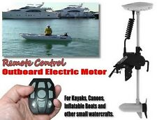 DELUXE 55 lbs ELECTRIC TROLLING REMOTE CONTROLED MOTOR: INFLATABLE / SMALL BOAT