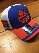 Official NHL New York Islanders Truckers Adjustable Cap Fanatics One Size