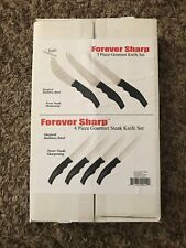 Forever Sharp Knife Sets Gourmet & Steak Stainless 7 Knives Pizza Cheese Tomato