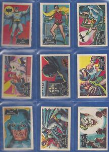 BATMAN A&BC 1966 BLACK BACK Full (55/55) Set !