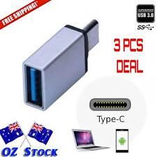 3pcs TypeC USB-C 3.1 to USB 3.0 2.0 Charging DATA OTG Adapter Fast Speedozstock
