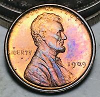 1909 VDB Lincoln Head Wheat Penny 1C Cent RB GEM UNC High Grade US Coin CC6531