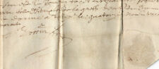 Amazing 1640 manuscript document DAMAGED oncial calligraphy WHITE WAX SEAL VOW